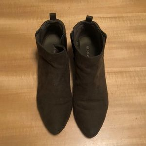 Army Green Old Navy Booties - Size 7